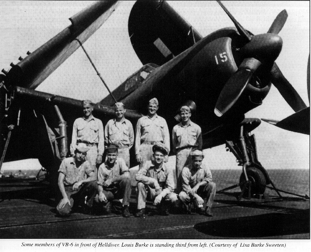 Young Pilots from Helldiver Squadron VB-6 off Hancock WWII